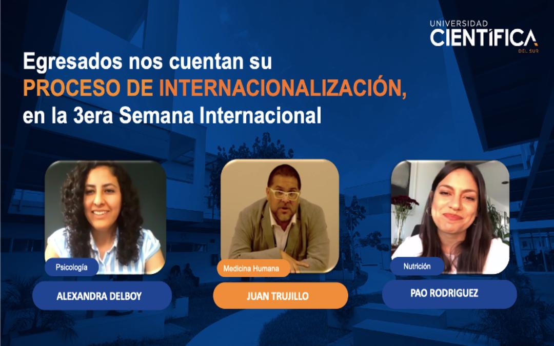 Egresados participaron en la 3era Edición de la Semana Internacional de la Universidad Científica del Sur