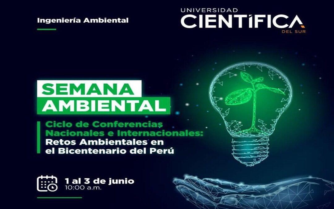 Semana Ambiental: Conferencias nacionales e internacionales